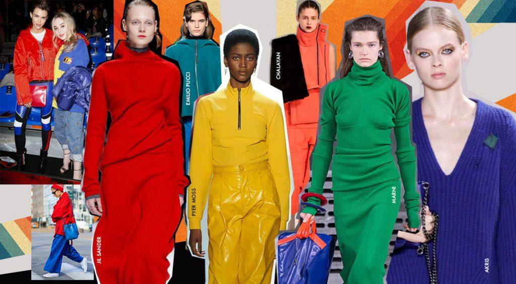 Яркие цвета поднимают настроение! Вот три способа, как их носить зимой