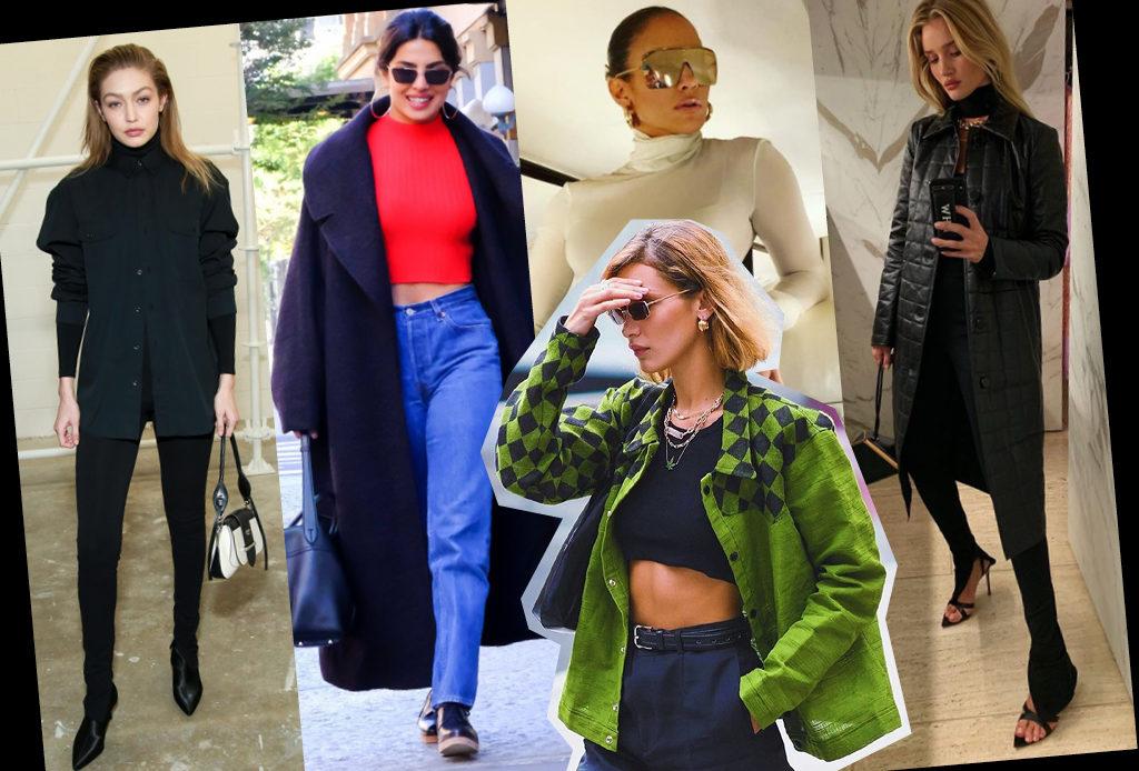 Базовый гардероб: как звезды носят водолазки, джинсы, кроссовки