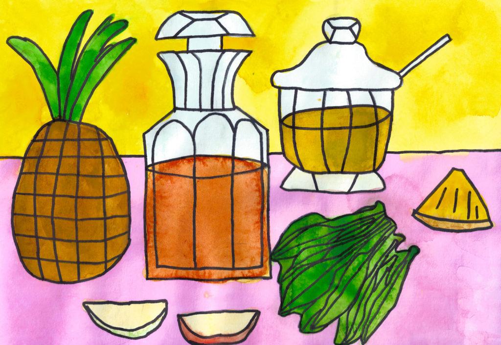 Рецепт ананасового коктейля от сезонной аллергии