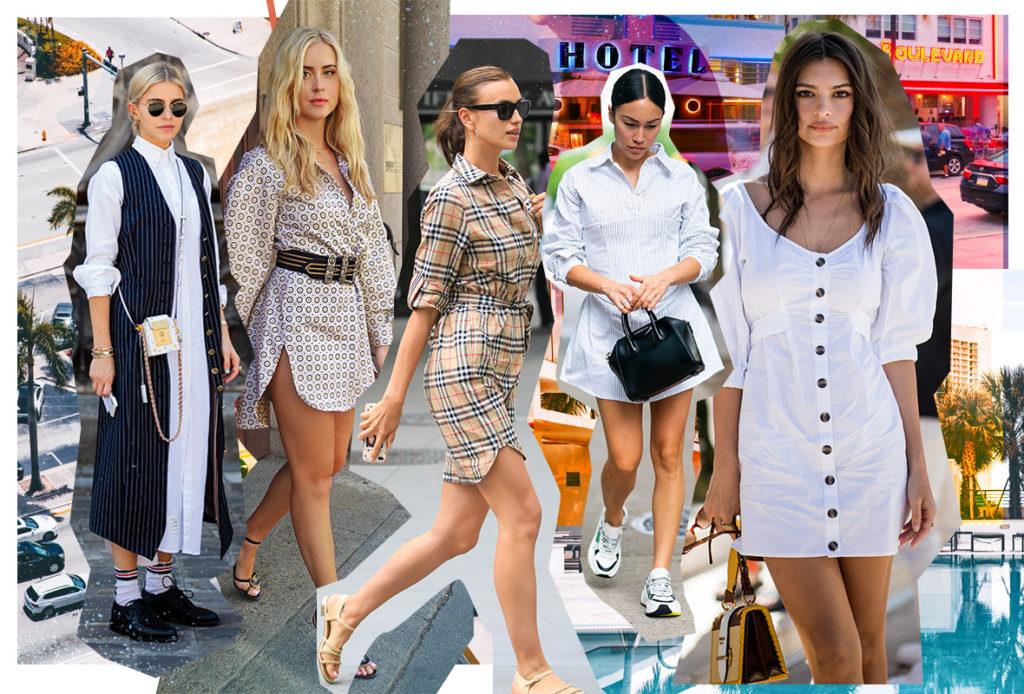Платье-рубашка – летняя униформа Ирины Шейк и других модниц