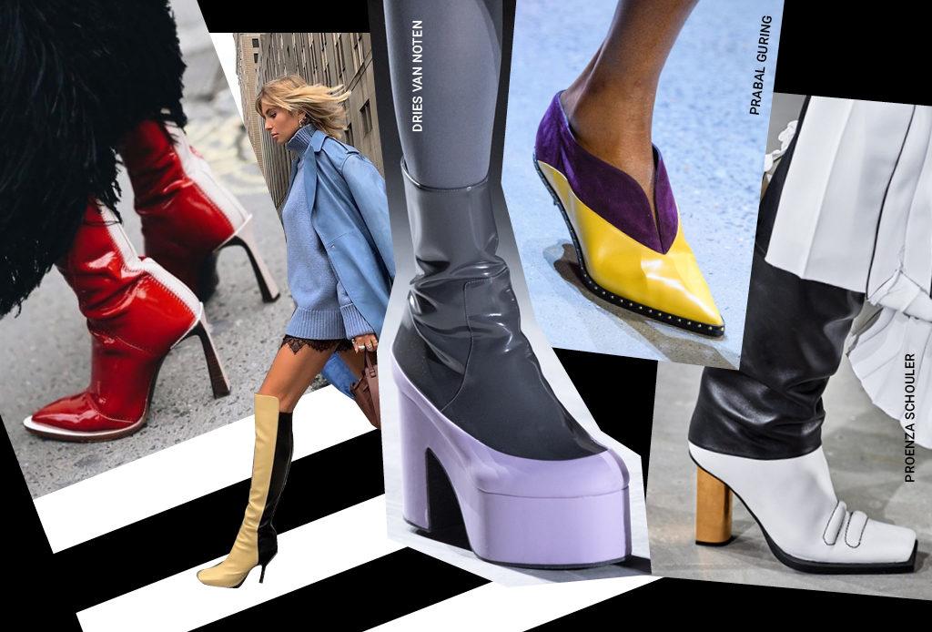 Двухцветная обувь – для тех, кто не может определиться