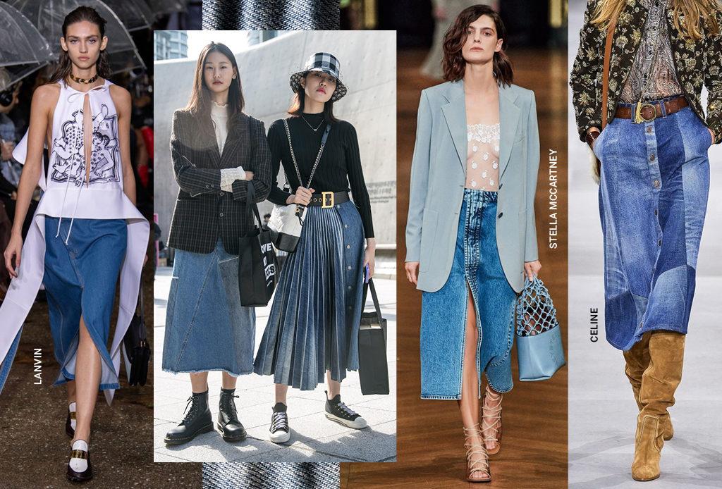 Джинсовая юбка миди – главная покупка весны
