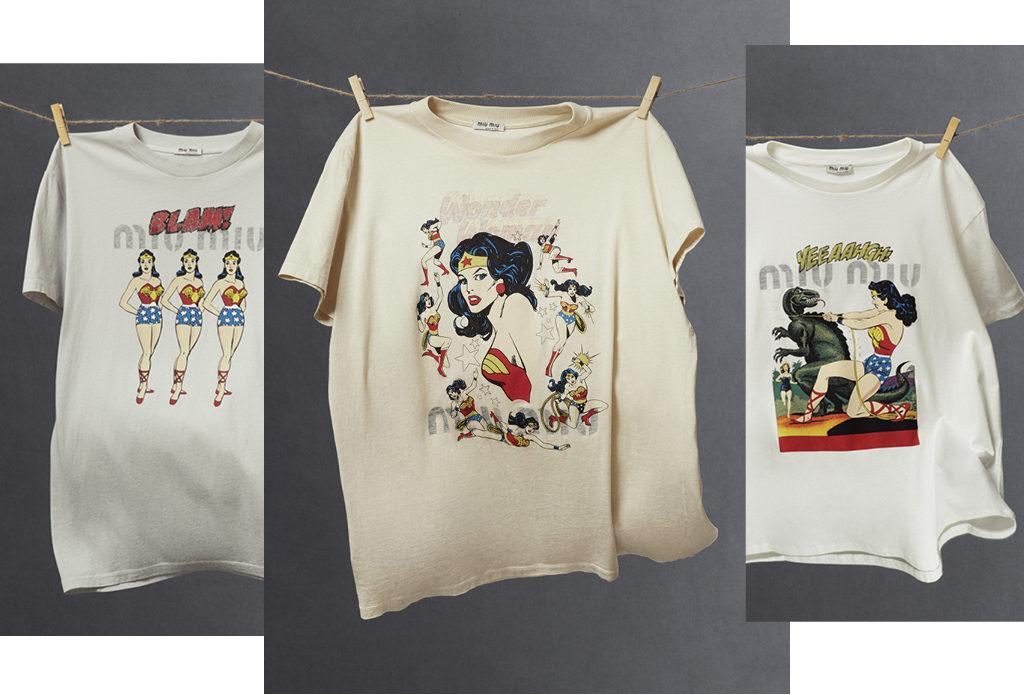 Чудо-женщина: капcульная коллекция футболок Miu Miu