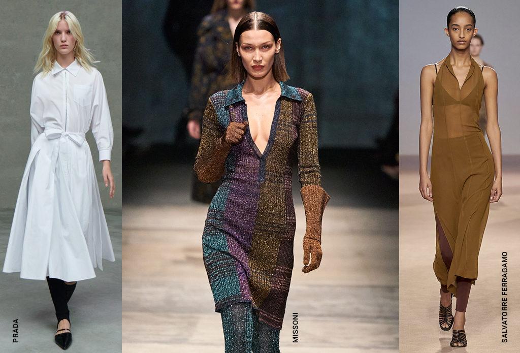 Модный прием: легинсы + платье