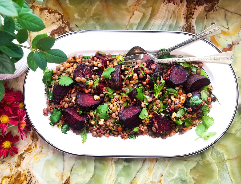 Свекольный салат с чечевицей – на страже здоровья