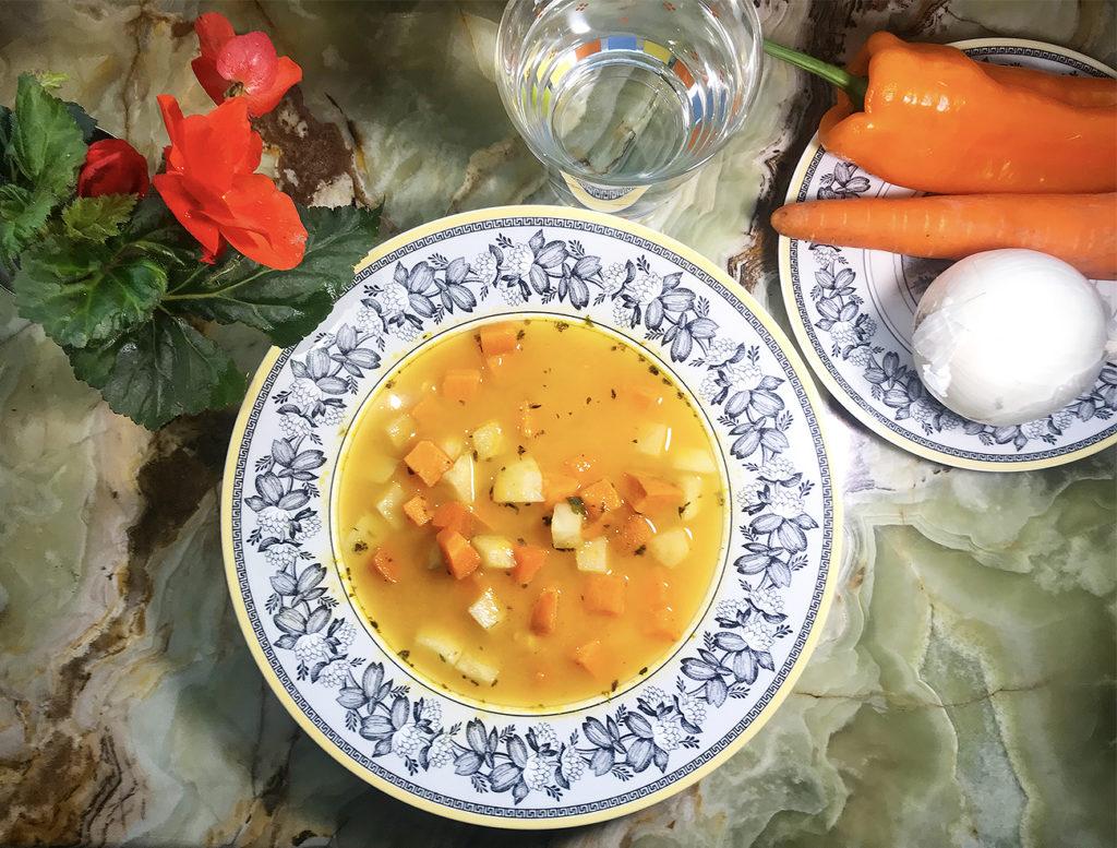 Зимний суп из корнеплодов