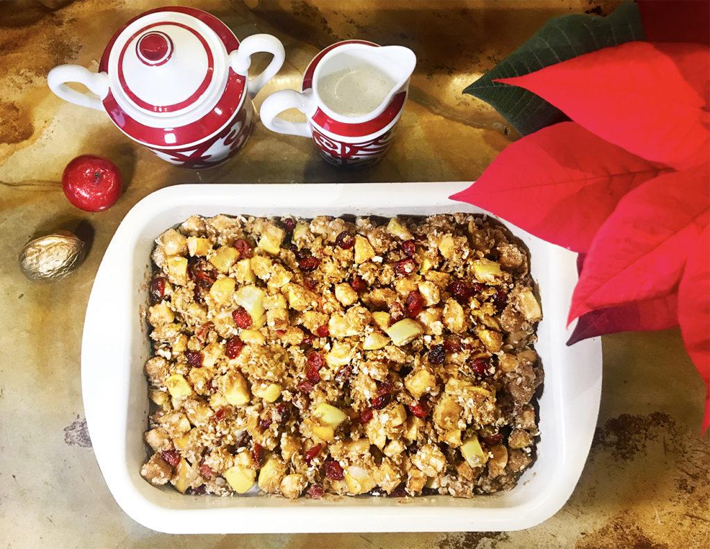 Яблочно-клюквенный крисп – рождественский десерт