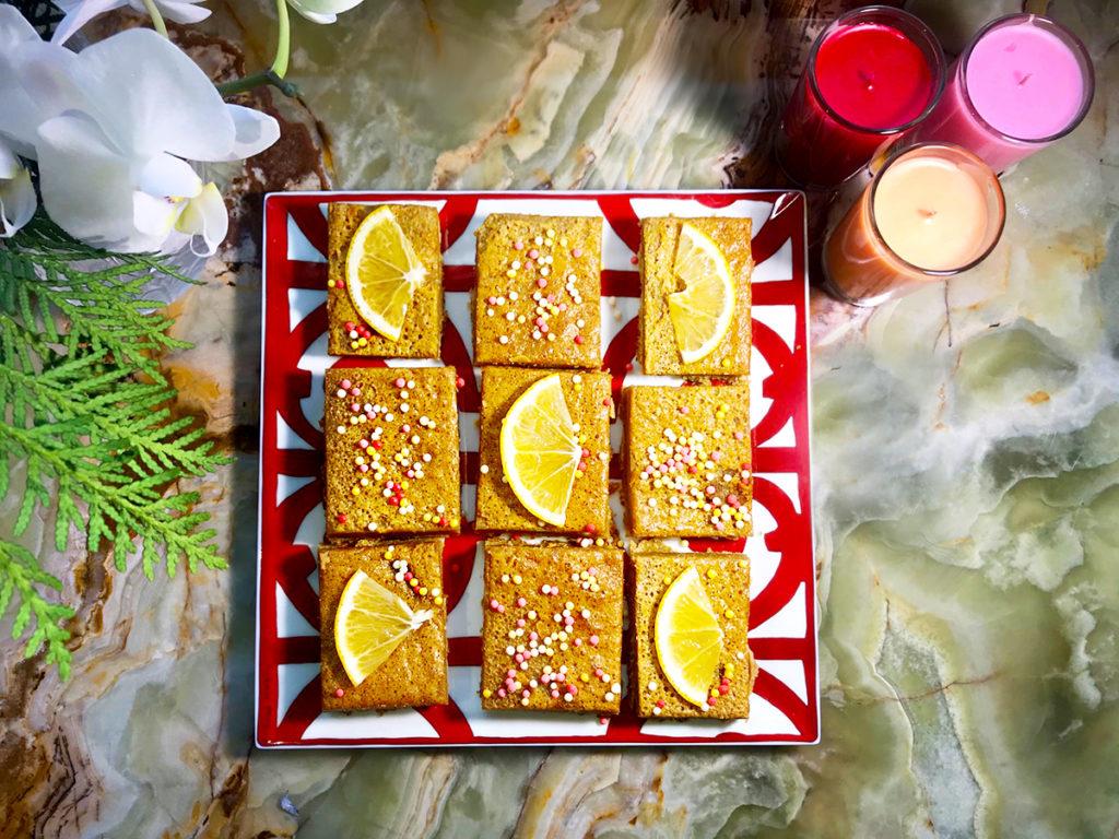 Лимонный пирог на скорую руку