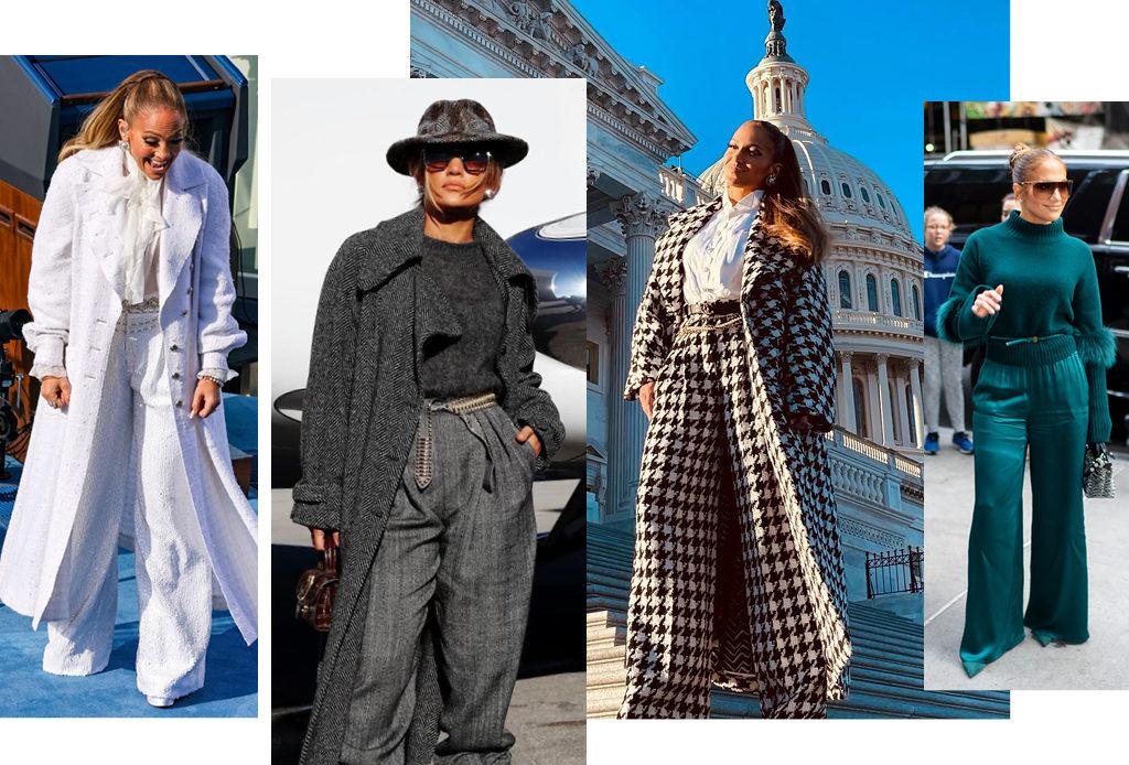 Где найти широкие брюки, как у Дженнифер Лопес, и с чем их носить?